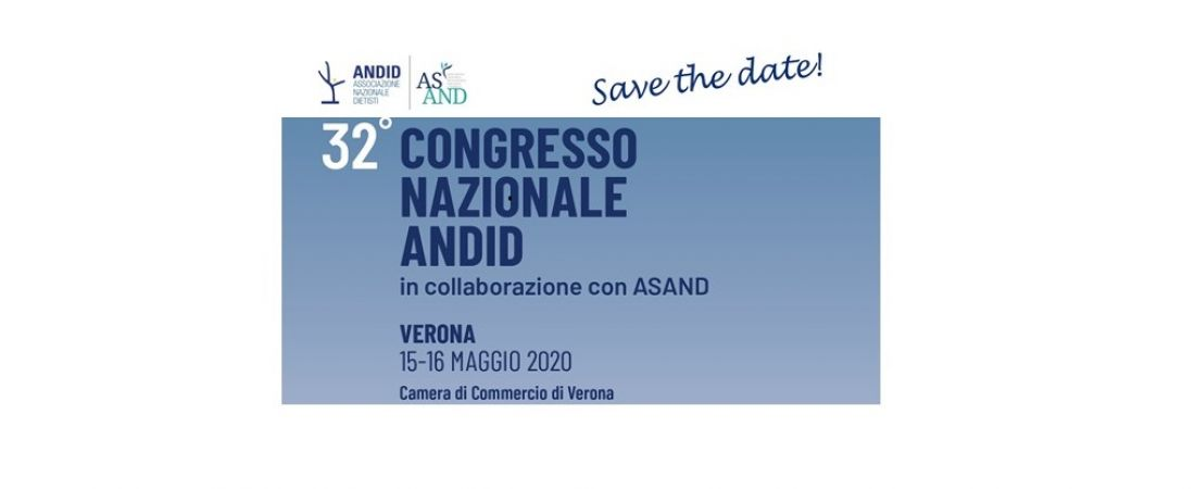 32° CONGRESSO NAZIONALE ANDID _ SAVE THE DATE
